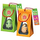 Par de Huevos de Pascua: Rompecabezas de laberinto en 3D, juguetes sorpresa para la búsqueda de huevos y decoración de Pascua, todo en uno para regalarlos como regalos para la Pascua, Verde-Naranja