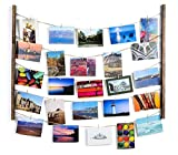 Tebery Marco de Fotos Collage, DIY Marco de Fotos de Pared, Madera Maciza, Foto Pared con 5 Cordones...
