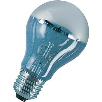 osram gl hlampe spezial kopfspiegellampe in silber e27 sockel 60 watt beleuchtung. Black Bedroom Furniture Sets. Home Design Ideas