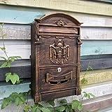 Liuyu · Lebendes Haus Landhaus-Briefkasten-Retro- Briefkasten mit Verschluss-kreativem ländlichem im Freien an der Wand befestigtem regendichtem Postkasten (Farbe : Hellbraun)