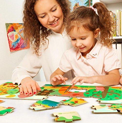 Weekendy Weekendy Weekendy Cadeau de Noël Puzzle éducatif en Bois créatif au début des Jouets Animaux d'apprentissage Fantastique Cadeaux pour Les  s Casse-tête pour Adultes | Fiable Réputation  bee7fb