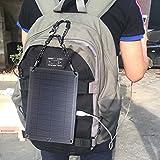 Caricatore solare 5W 5V 1A portatile cella solare policristallino pannello solare USB caricabatteria 190* 250MM caricatore per auto per cellulare Power Bank per smartphone Tablet