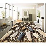 lsweia Moderne 3D Pebbles DIY Bodenfliesen Malerei Murals Aufkleber Anti Tragen Wohnzimmer PVC Wasserdichte Bodenbelag Klebstoff Wand Papier 3 D