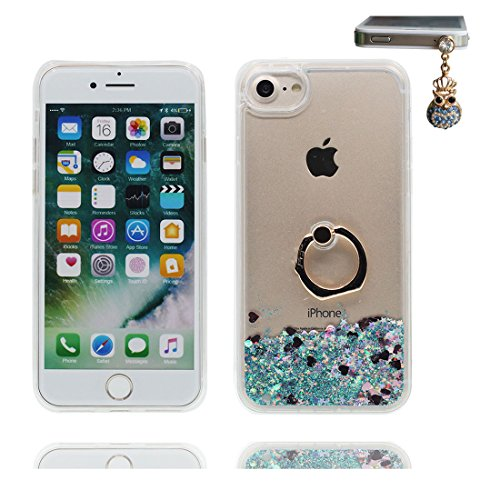 "iPhone 7 Plus Coque, Étui Cover Housse iPhone 7 Plus 5.5"", Bling Glitter Fluide Liquide Sparkles Sables ring Support iPhone 7 Plus Case 5.5"", Durable Résistant à la poussière Scratch and Dustproof # 6"