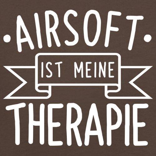 Airsoft ist meine Therapie - Herren T-Shirt - 13 Farben Schokobraun