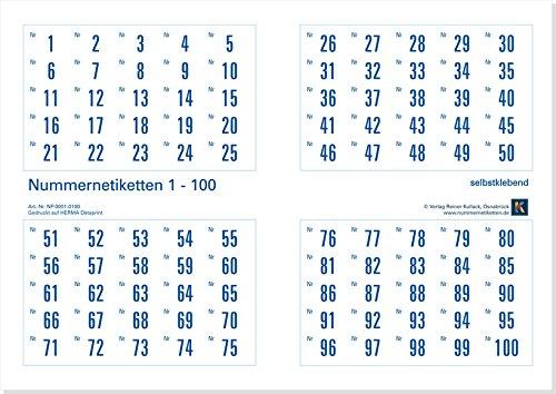 iketten (Papier), selbstklebend, Nr. 1-1000 (weitere Nummernlagen auswählbar) ()