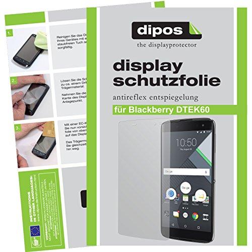 dipos I 2X Schutzfolie matt passend für BlackBerry DTEK60 Folie Displayschutzfolie