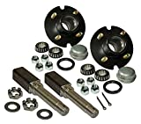 #9: Rigid Hitch Pair of 4-Bolt On 4 Inch Hub Assembly - Includes (2) Square Shaft 1-1/16 Inch Straight Spindles & Bearings