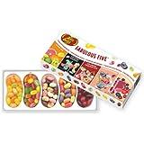 Jelly Belly Fabulous Five, Gomas de Mascar en Paquete de Regalo, 5 Mezclas, 125 g