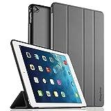 EasyAcc Ultra Slim iPad Air 2 Hülle Case Cover Schutzhülle Bumper Lederhülle Flip mit Standfunktion / Auto Sleep Wake up für iPad Air 2 / ipad 6 - Grau, Ultra Slim