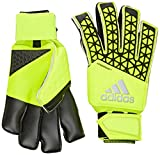 adidas Unisex Torwarthandschuhe Ace Zones Fingersave Allround, solar yellow/semi solar yellow/black, 11, S90124