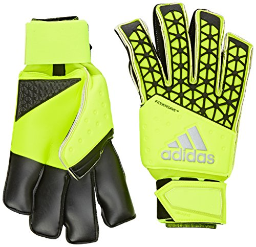 adidas Unisex Torwarthandschuhe Ace Zones Fingersave Allround, solar yellow/semi solar yellow/black, 10, S90124 -