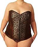 Übergrößen Damen Corsage braun (Kleidergrößen 56-60 (10XL-12XL)): Formende Corsage für große Größen (12XL)