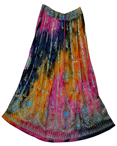 jnb-rayon-wrinkle-skirt-indian-pnkgrytd-hippie-rock-gypsy-kjol-jupe-retro-boho-falda-women-e