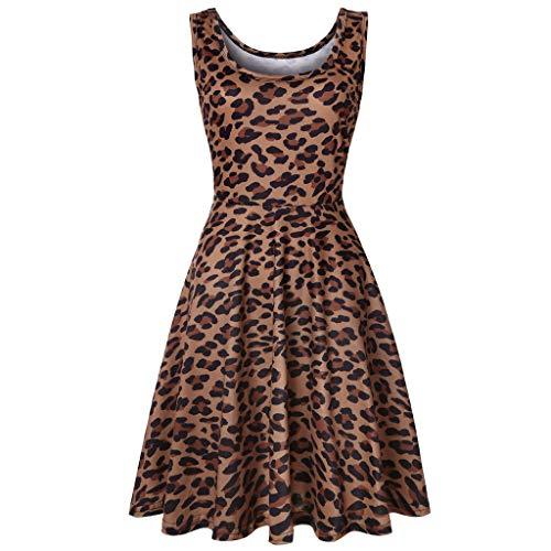 Dot Robe (Damen Sommerkleider Frauen Dress Vintage Abendkleid Ärmelloses Skaterkleid A Line Swing Mini Kleid Slim Fit Partykleid Cocktailkleid Frühling Dot Patchwork Rockabilly Kleid)