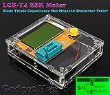 Gadget Hero's LCR-T4 ESR Meter Transistor Tester Diode Triode Capacitance Mos Mega328 Transistor Tester In Clear Case
