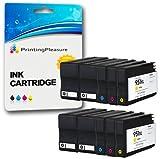 Printing Pleasure 10 XL Druckerpatronen für HP Officejet Pro 8600, 8600+, 8100, 8610, 8620, 8630, 8640, 8660, 251dw, 276dw | Ersatz für HP 950XL, HP 951XL CN045AN, CN046AN, CN047AN, CN048AN