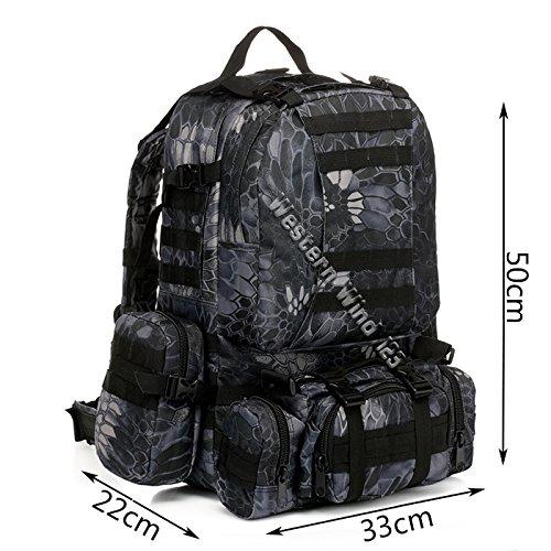 Wocharm (TM) 50 l, Militär, Camping, Trekking Rucksack Rucksäcke, Taschen, Sport, Outdoor)