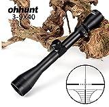 Ohhunt 3-9X40 Optics Taktische Zielfernrohr Entfernungsmesser Fadenkreuz Armbrust Airguns Jagd Gewehrfernrohr mit Halterungsringen