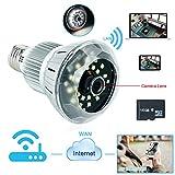 Best WISEUP Dvr Cameras - WISEUP 16GB E27 Bulb Lamp Spy Camera 720P Review