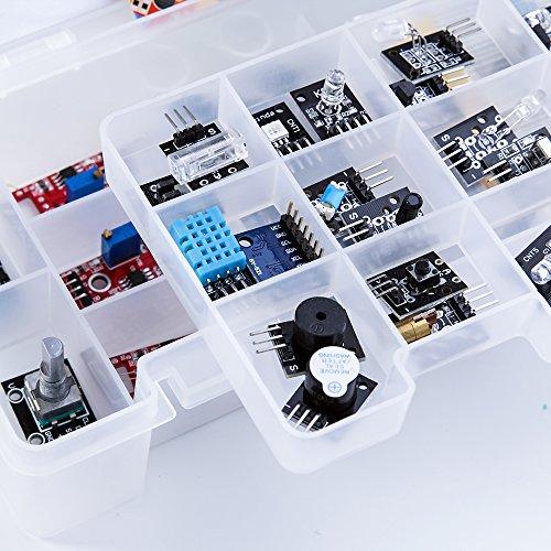 ELEGOO Kit DE 37-en-1 Module Capteur V2.0 avec CD Tutorial Complet et Accessible pour Raspberry Pi Débutants et Professionnels DIY Compatible avec Arduino IDE Img 1 Zoom
