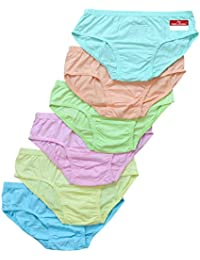 Pride Apparel Women's Cotton Briefs (Pack of 6)