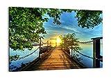 Impression sur toile - un élément - 100x70cm - Image sur toile - 2573 - prete a suspendre - encadrée - Tableaux pour la mur - motif moderne - Décoration - pret a accrocher - AA100x70-2573...