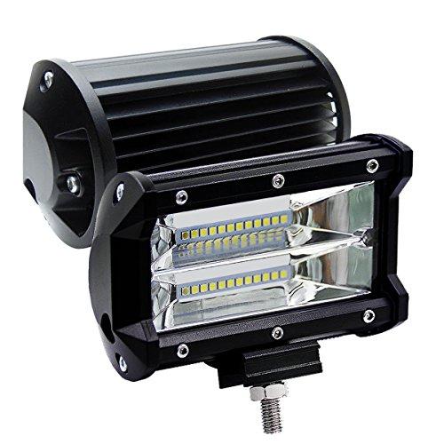 2 X 72W LED Arbeitsscheinwerfer 5 Zoll Zusatzscheinwerfer IP67 wasserdicht Offroad Scheinwerfer für Jeep SUV(2 Stück) -