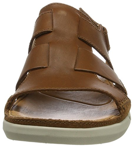 Clarks Trisand Bay, Sandales Bout Ouvert Homme Marron (Tan Leather)