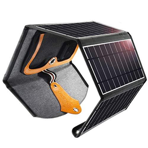 Ecológico-Cargador Solar Rápido para Su Vida al Aire Libre Abra la carpeta, apunte los paneles hacia al sol y conecte a los dispositivos USB Compatibilidad Superior Todos los teléfonos y cualquier dispositivo USB aceptado de 5 V, incluidos iPhone, Sa...
