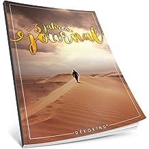 Dékokind® 3 Jahres Journal: Ca. A4-Format, 190+ Seiten, Vintage Softcover • Dicker Jahreskalender, Tagebuch für Erwachsene, Kalenderbuch • ArtNr. 12 Long Road • Ideal als Geschenk