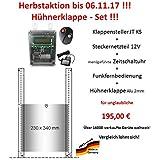 Automatische Hühnerklappe + Steckernetzteil + Zeitschaltuhr + Funkfernbedienung + Klappe - Aktion vom Hersteller!!