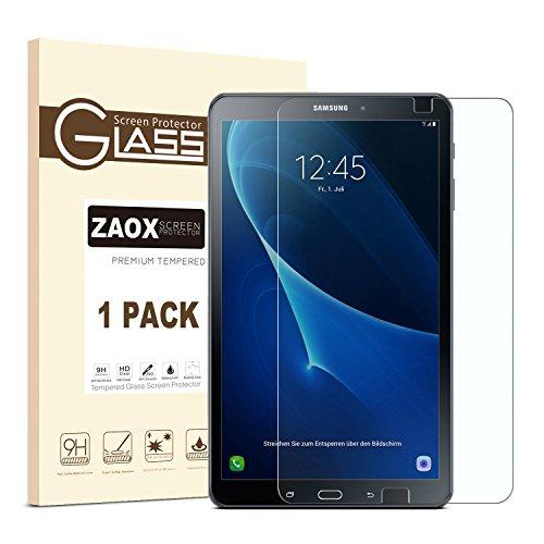 Galaxy Tab A 10.1Displayschutzfolie Glas, zaox sm-t580blasenfrei/Ultra Klar/9H Härte gehärtetes Glas Displayschutzfolie Film für Samsung Galaxy Tab A 10.1, 1 Pack Clear - Bildschirm-glas Samsung Galaxy Tab