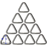 Anneau Triangulaire inox 6mm x 50mm ( Lot de 10 ) inox