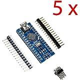 DAOKAI® 5PCS MINI USB Nano V3.0 ATmega328P CH340G 5V 16M Mikrocontroller-Brett für Arduino