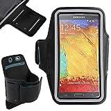 DURAGADGET Fascia Da Braccio Sportiva Nera Per Samsung Galaxy Note 3 - Alta Qualità - Garanzia Di 3 Anni - Disponibile In Più Colori