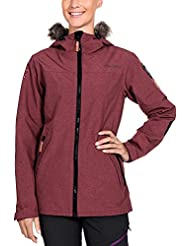 Twentyfour Damen Ski Funktions Leichte Jacke Finse mit abnehmbarem Kunstfell