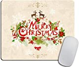 Tappetino per mouse di Natale con renne di Natale Merry Christmas 9.5 'X 7.9' (240mmX200mmX3mm)