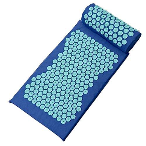 precauti 2-in-1 Akupressurmatte und Kissen-Set - Akupunkturmatte für Nacken- und Rückenschmerzen, Massagetherapie und Stressabbau mit Tragetasche