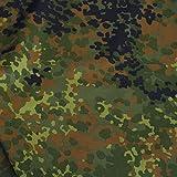 TOLKO Camouflage Stoff aus Nylon | Farbecht, Reißfest und
