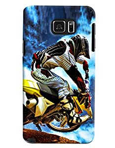 Clarks Motorcross Madness Hard Plastic Printed Back Cover/Case For Samsung Galaxy Note 5