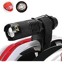 MakeTheOne Luces de casco MTB Ciclo Casco Montar Antorcha Luz Linterna Cree XML-T6 Kit Bbicicleta Frontal Trasera Luz de Conjunto