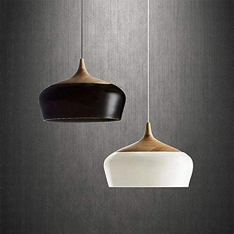 LLYY-Nordico minimalista sala da pranzo camera da letto di legno solido di giapponese-stile creativo americano retrò unico fine registro lampadari , Black