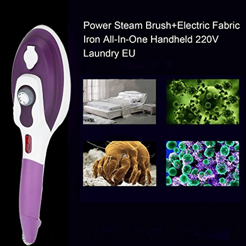 Laurelmartina UE Plug Garment Steamer Portable Handheld Clothes Steam Iron Machine Steam Brush Hierro eléctrico Plancha de Vapor