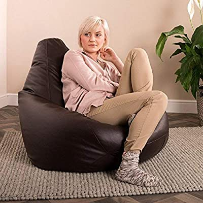 Bean Bag Bazaar Gaming Faux Leather Bean Bag Chair