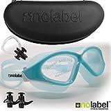 Gafas de natación - Gafas de natación de Triatlón - Gafas con lentes Anti-empaño para Nadar + Protección UV - Correa para Lentes de Natación de ajuste fácil - Fabricados por No Label