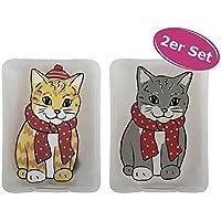 Preisvergleich für 2er Set Taschenwärmer Katze (tolles Wichtelgeschenk) Handwärmer, Hot Pack