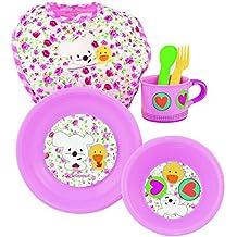 itsImagical - Baby Meal Set Pink, vajilla Infantil para microondas de Color Rosa (Imaginarium