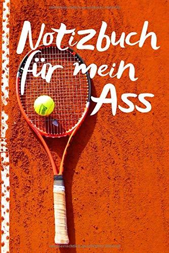 Notizbuch für mein Ass: Tennisspieler notieren gerne Ihre Strategien, Für die Notizen - Dunlop Tennisschläger