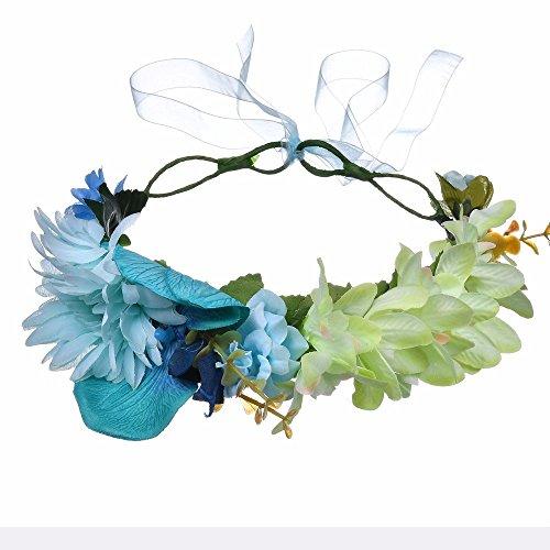 AdorabFitting Girlande garland girlande guder kranz gudelj grunwald Europäische und amerikanische Mode Urlaub mit Schmetterling Schmetterling Brautjungfer grün
